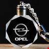 Opel Logolu Led Işıklı 3D Kristal Led Araba Anahtarlık
