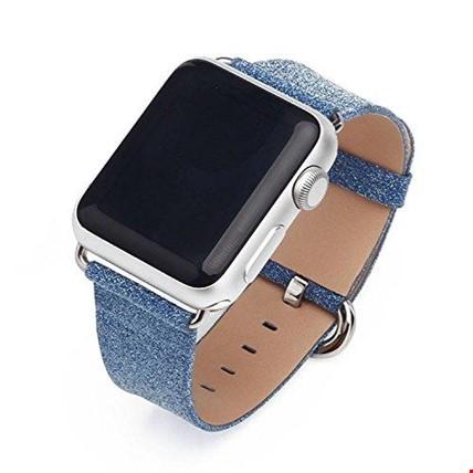 Apple Watch 2 3 4 5 42 ve 44mm TME Kordon Kayış Shine Parıltılı Renk: Mavi