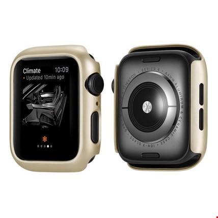 Apple Watch 4 44mm Sert Plastik Rubber Kapak Kılıfı Koruyucu Renk: Altın  Dore