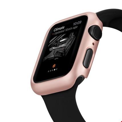 Apple Watch 4 44mm Sert Plastik Rubber Kapak Kılıfı Koruyucu Renk: Bronz