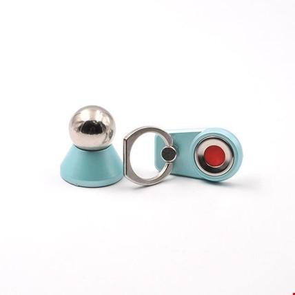 Araç İçi Telefon Tutucu Manyetik Mıknatıslı i Ring Yüzük Stand Renk: Turkuaz