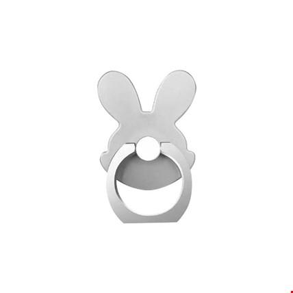 Tavşan i Ring Telefon Halkası Yüzük Stand Selfie Yüzüğü 2 Adet Renk: Gri