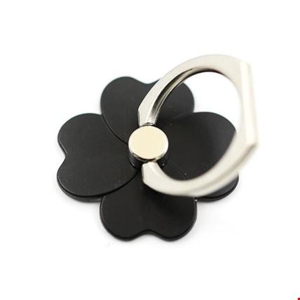Çiçek  i Ring Telefon Halkası Yüzük Stand Selfie Yüzüğü 2 Adet Renk: Siyah