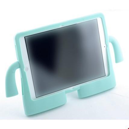 iPad Air 2 Kılıf Çocuklar İçin Silikon Kapak Standlı Renk: Turkuaz