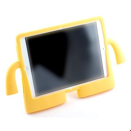 iPad Air 2 Kılıf Çocuklar İçin Silikon Kapak Standlı Renk: Sarı