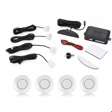 Dijital Ekran Araç Park Sensörü Ses İkazlı Ses Açma Kapama Tuşlu Renk: Beyaz