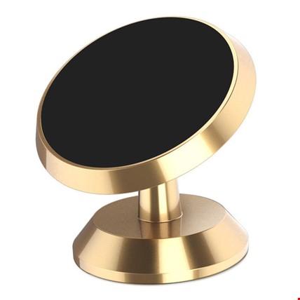 Araç Göğsü Manyetik Mıknatıslı Universal Telefon Tutucu Tutacağı Renk: Altın  Dore