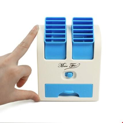 Mini Usb Klima Vantilatör Fan Masaüstü Soğutucu Taşınabililr Klima Renk: Mavi