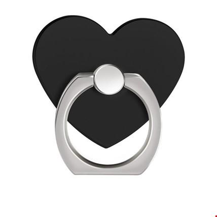 Kalp i Ring Telefon Halkası Yüzük Stand Selfie Yüzüğü 2 Adet Renk: Siyah