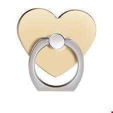 Kalp i Ring Telefon Halkası Yüzük Stand Selfie Yüzüğü 2 Adet Renk: Altın  Dore