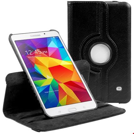 Samsung Galaxy Tab 4 T230 Kılıf 360 Derece Standlı Renk: Siyah