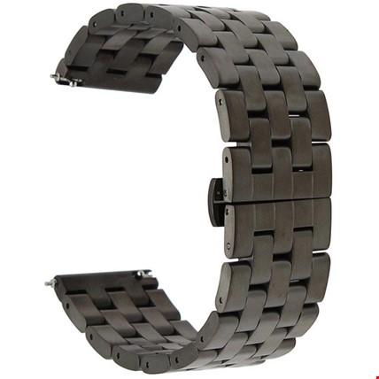 Samsung Gear S3 Frontier & Clasic Metal Kordon Kayış Stainless Renk: Siyah