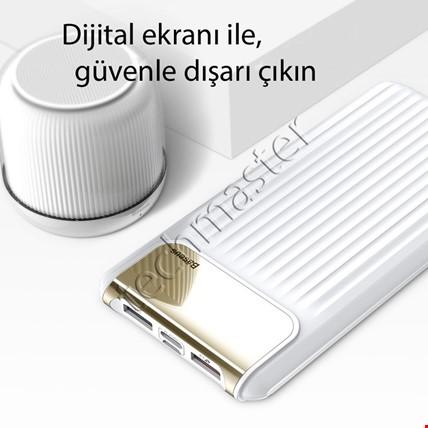 Baseus QC 3.0 10000 Mah Digital Çift Usb Powerbank Şarj Cihazı Renk: Beyaz