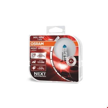 Osram Night Breaker Laser H1 Ampül % 150 Fazla % 20 Beyaz Işık