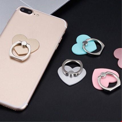 Kalp i Ring Telefon Halkası Yüzük Stand Selfie Yüzüğü 2 Adet
