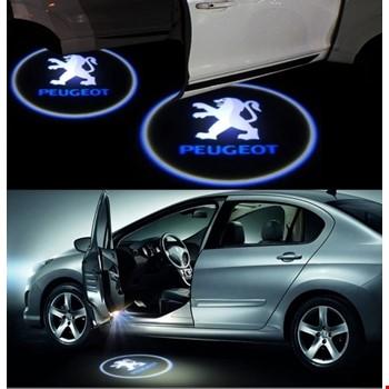 Peugeot Kapı Altı Led Logo Aydınlatma 3D Ghost Shadow