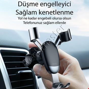 iPhone Huawei Xiaomi Samsung Baseus Havalandırma Araç İçi Tutucu
