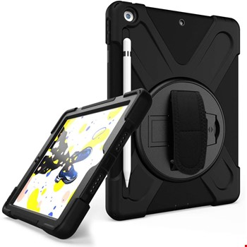 iPad 10.2 2019 2020 Hand Strap Zırh Armor Askılı Kılıf