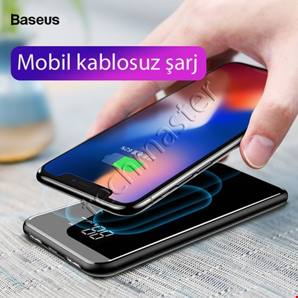Baseus 8000 Mah Kablosuz Şarj Powerbank iPhone Samsung Huawei Mi