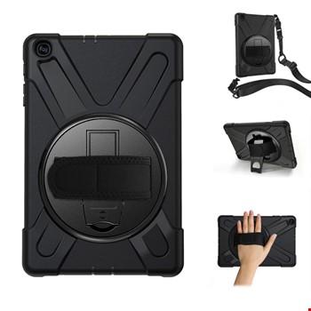 Samsung Galaxy Tab 10.1 T510 Hand Strap Zırh Armor Askılı Kılıf