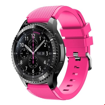Samsung Gear Watch 46mm Silikon TME Kordon Kayış Renk: Pembe