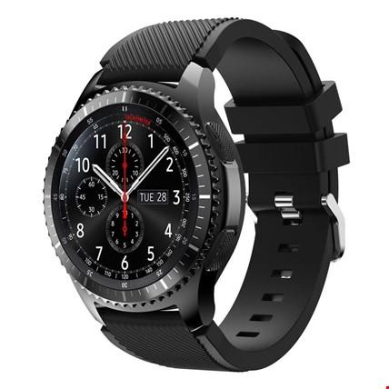 Samsung Gear S3 Classic Frontier Silikon TME Kordon Kayış Renk: Siyah