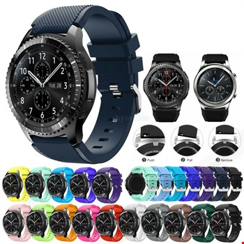 Samsung Gear Watch 46mm Silikon TME Kordon Kayış