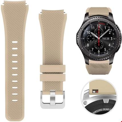 Huawei Watch Gt Gt2 Gt2 Pro Silikon TME Kordon Kayış Renk: Bej