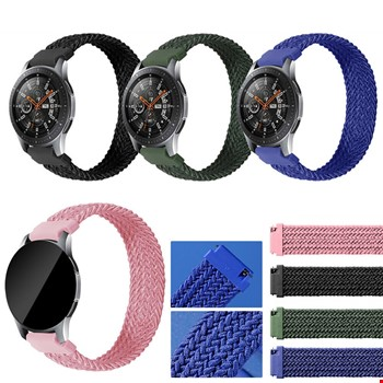 Samsung Gear S3 Gear Watch 3 45mm Örgü Solo Loop TME Kordon 155mm