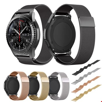 Samsung Galaxy Watch 3 41mm Metal Hasır Mıknatıslı TME Kordon 20mm