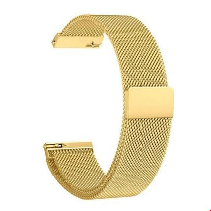 Samsung Gear Watch 42mm Metal Hasır Mıknatıslı TME Kordon 20mm Renk: Gold
