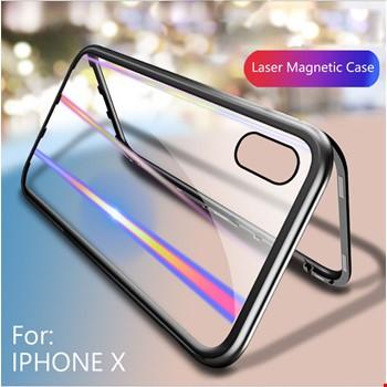 iPhone 6 7 8 Plus X Xr Xs Max Kılıf Mıknatıslı 360 Cam Kapak