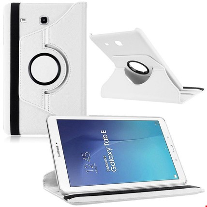 Samsung Tab E 8.0 T377 Kılıf Standlı Renk: Beyaz