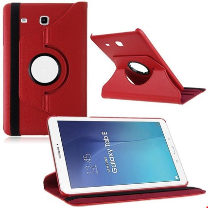 Samsung Tab E 8.0 T377 Kılıf Standlı Renk: Kırmızı