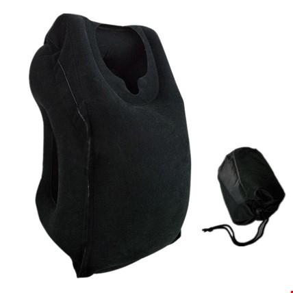 Seyahat Yastığı Şişme Yastık Unique Yeni Model Renk: Siyah