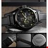 Skmei 9165 Analog Su Geçirmez Kronograf Şık Moda Erkek Kol Saati Renk: Siyah