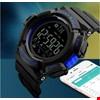 Skmei 1245 Akıllı Bluetooth Android İos Uyumlu Erkek Kol Saati Renk: Mavi