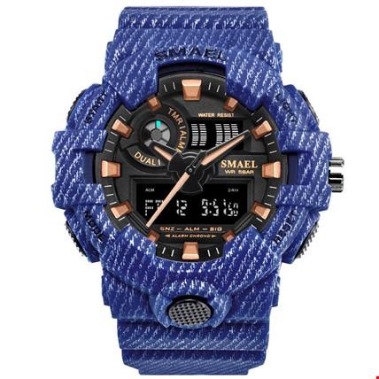 Smael 8001 Su Geçirmez Spor Askeri Cowboy Erkek Kol Saati Renk: Mavi