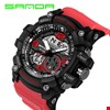 Sanda 759 S-Shock Su Geçirmez Spor Asker Kol Saati Renk: Kırmızı