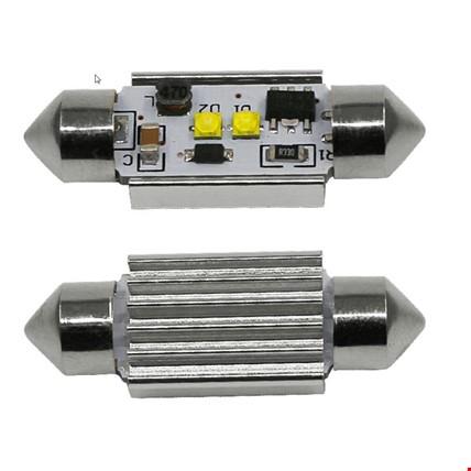 Sofit Led Ampül 2 SMD Beyaz Mükemmel Işık Canbus 41MM C5W Festoon