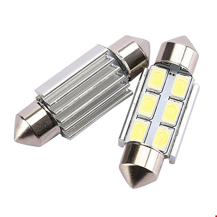 Sofit Led Tavan Plaka 6 SMD Canbus  5050 Festoon  C5W 41 MM