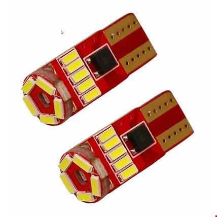 T10 4014 Park Led Ampülü 15 Ledli Canbus Beyaz