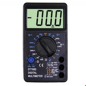 TENON DT-700D Dijital Ölçü Aleti Multimetre V/W/A Büyük LCD Ekran
