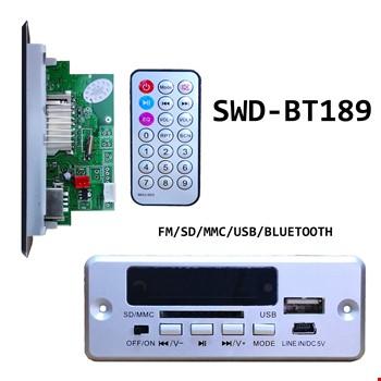 Tenon Swd-Bt189 Oto Teyp Çevirici Usb Bluetooth Aux Fm Microsd