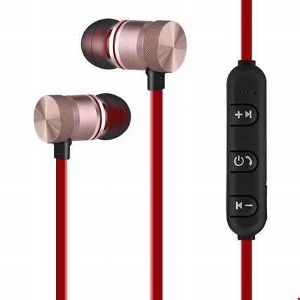 TME Mıknatıslı Mikrofonlu Kablosuz Stereo Bluetooth Spor Kulaklık