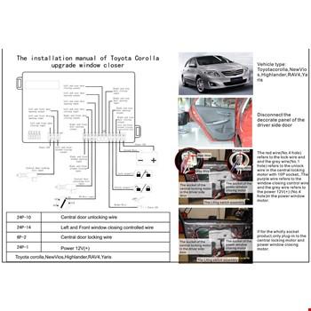 Toyota Corolla 2013-2015 Cam Kaldırma Modülü