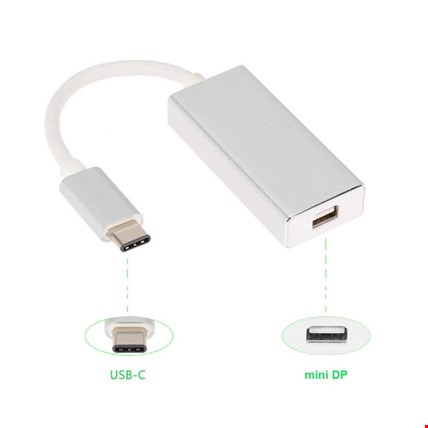 Type-C to Minidisplayport MiniDp Görüntü Aktarım Kablosu