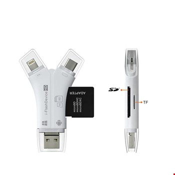 Type-C iPhone Micro Usb Kart Okuyucu SD Multi 4in1