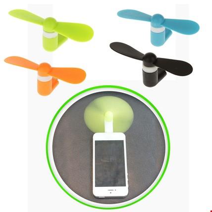 Type-C Telefonlarla Uyumlu Taşınabilir Mini Fan Vantilatör 2 Adet Renk: Turuncu