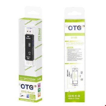Type-C ve Micro Usb Otg USB Kart Micro SDHC SD TF Kart Okuyucu